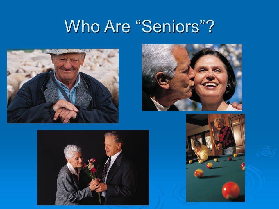 "Who Are ""Seniors""?"