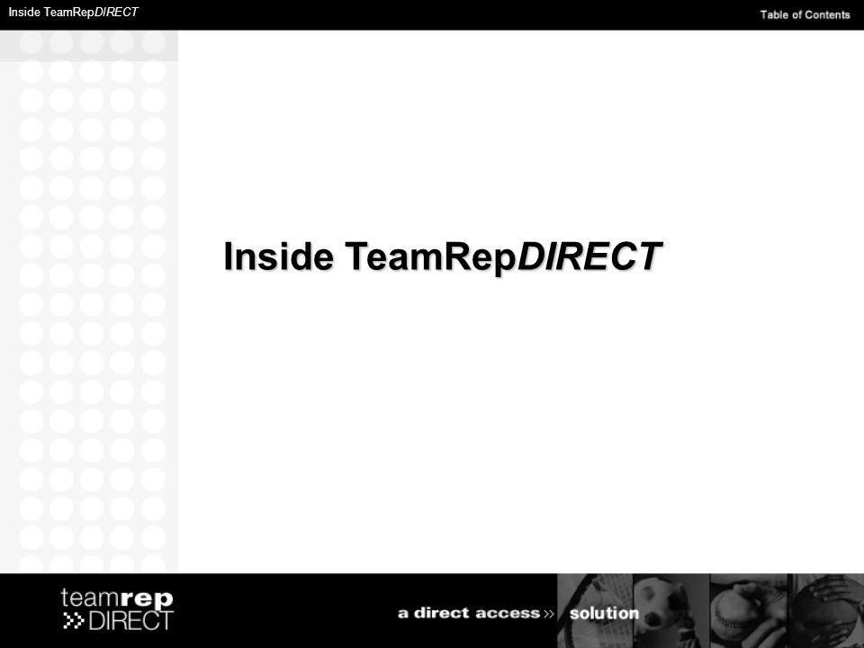 Inside TeamRepDIRECT Inside TeamRepDIRECT Inside TeamRepDIRECT
