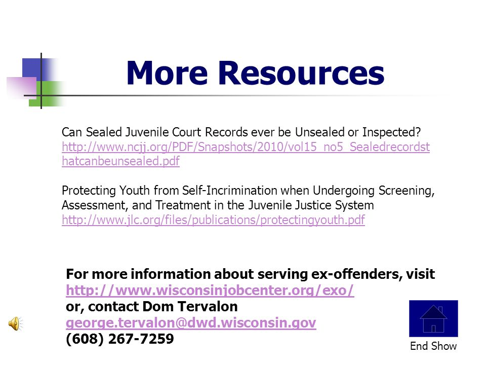 Some states with report juvenile records information when it is requested by a criminal justice entity or employer and some don't.