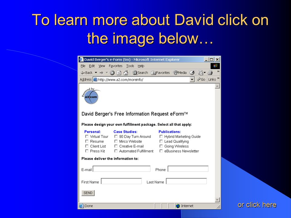 To learn more about David click on the image below… or click here or click here