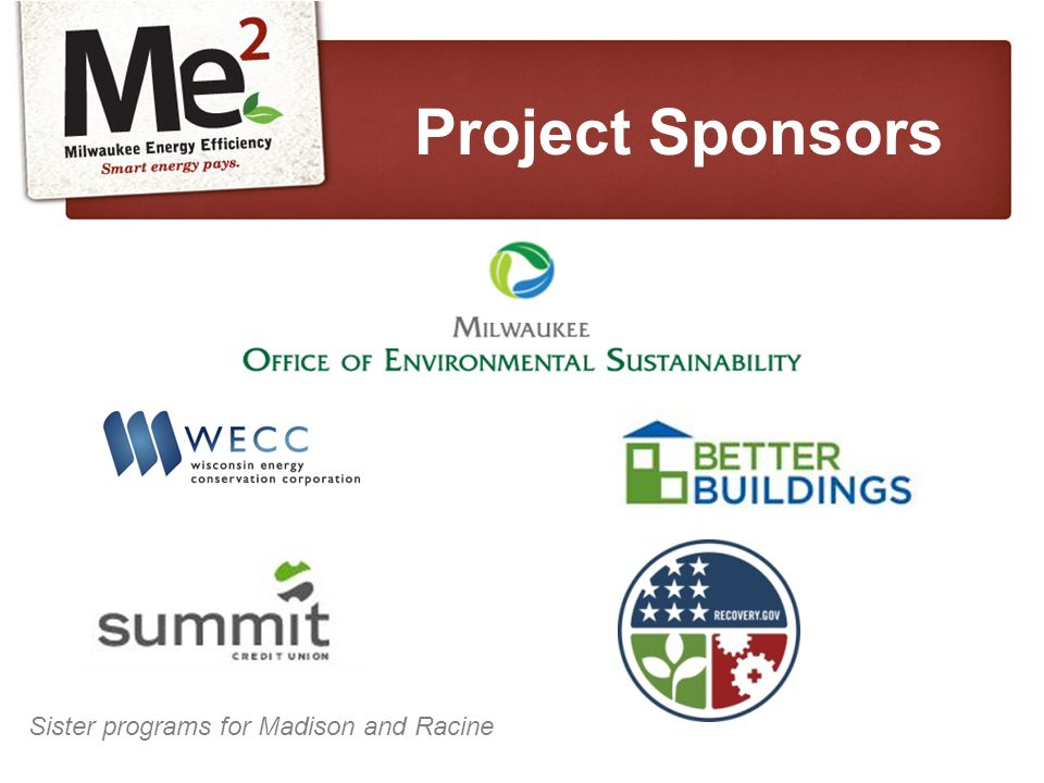 Project Sponsors Sister programs for Madison and Racine