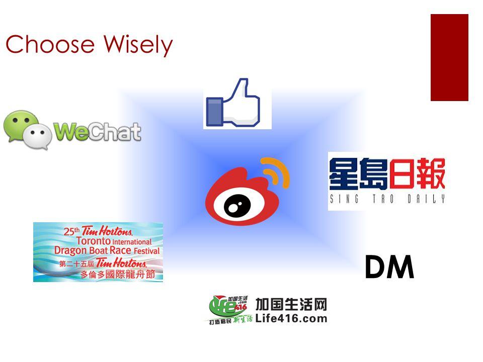 Choose Wisely DM