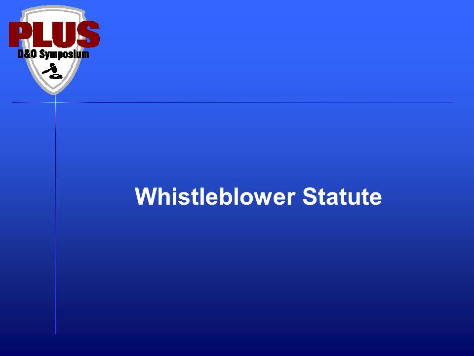 Whistleblower Statute