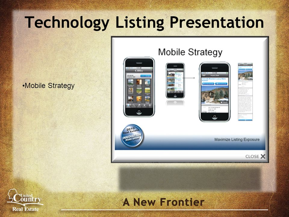 Technology Listing Presentation Mobile Strategy