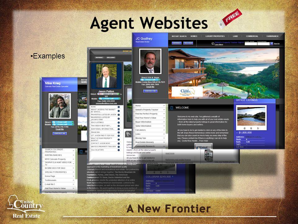Agent Websites Examples