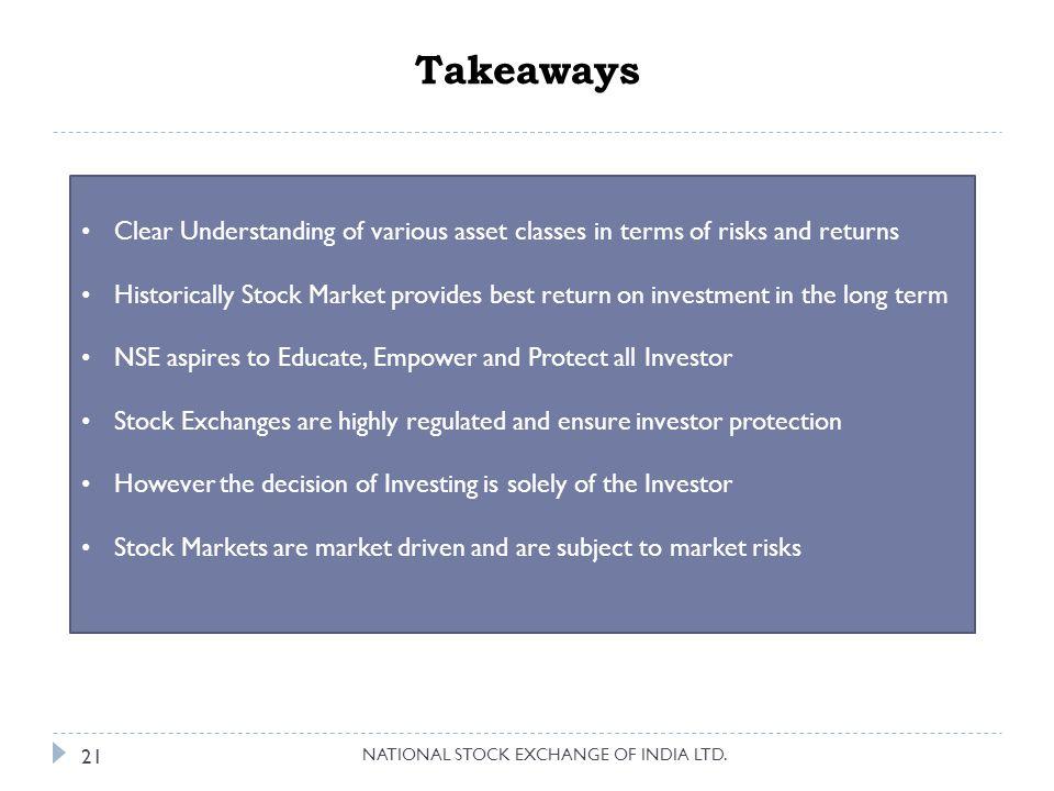Takeaways NATIONAL STOCK EXCHANGE OF INDIA LTD.