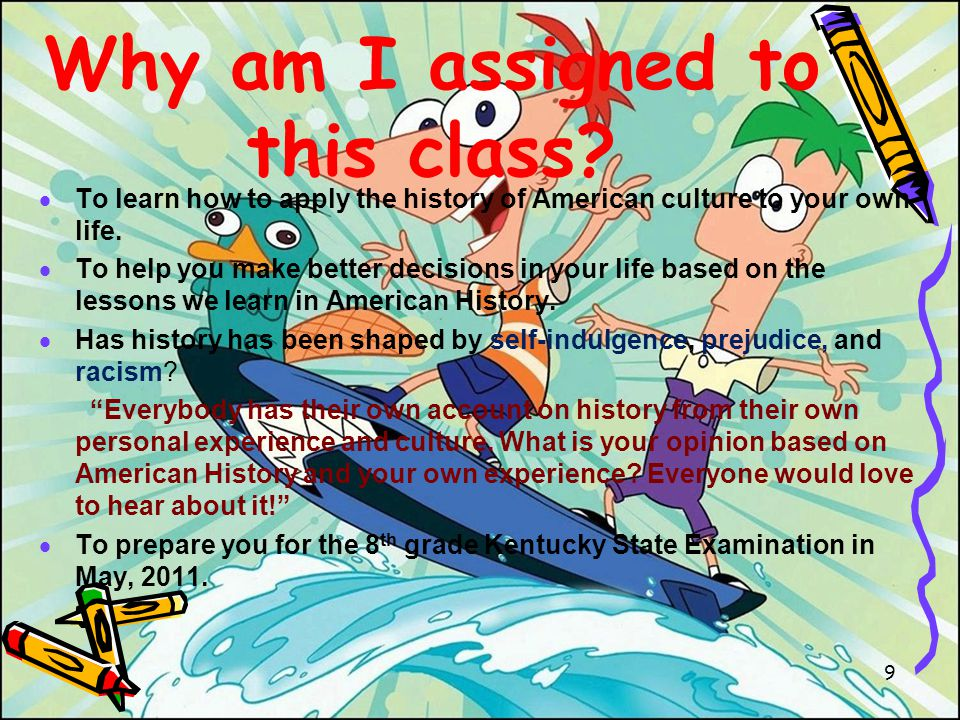 What will I be doing in this class.Learning about U.S.