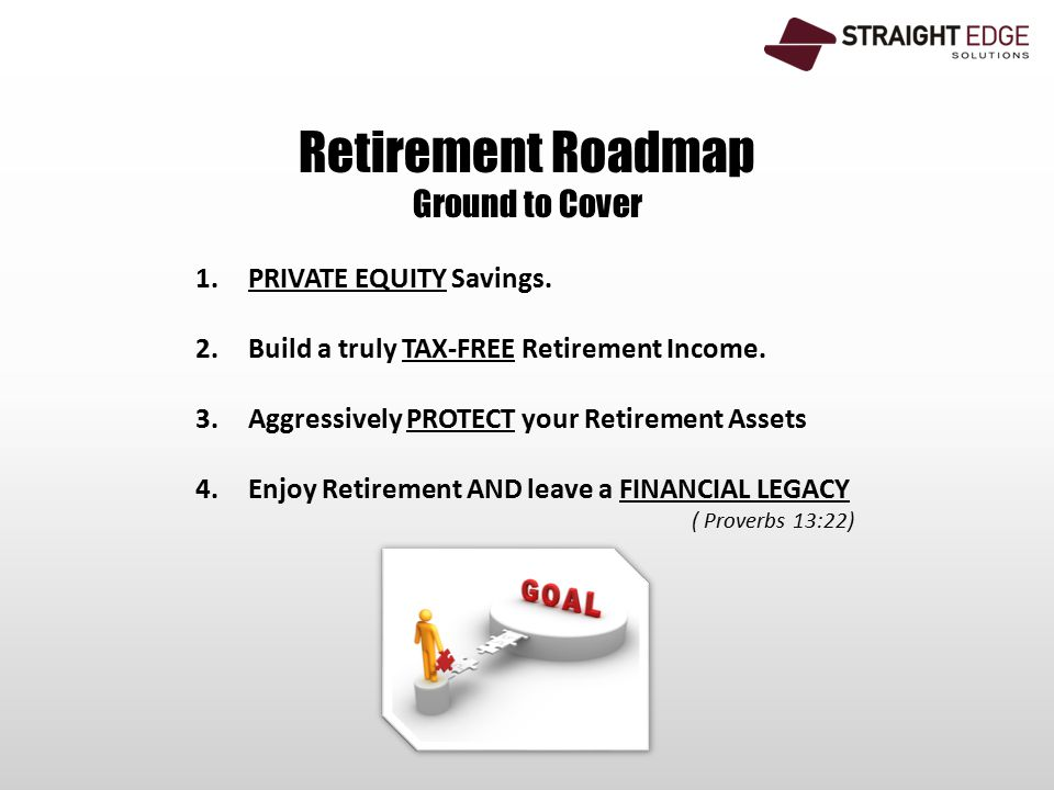 Retirement Roadmap Ground to Cover 1.PRIVATE EQUITY Savings.