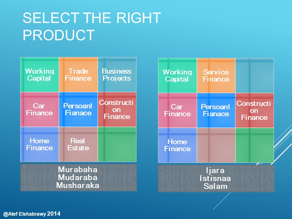 @Atef Elshabrawy 2014 SELECT THE RIGHT PRODUCT