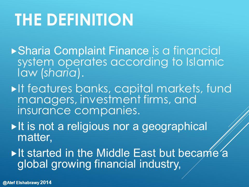 @Atef Elshabrawy 2014 THE PROGRAMS 1.SME's interest free finance 2.
