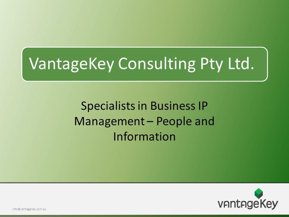 info@vantagekey.com.au VantageKey Consulting Pty Ltd.
