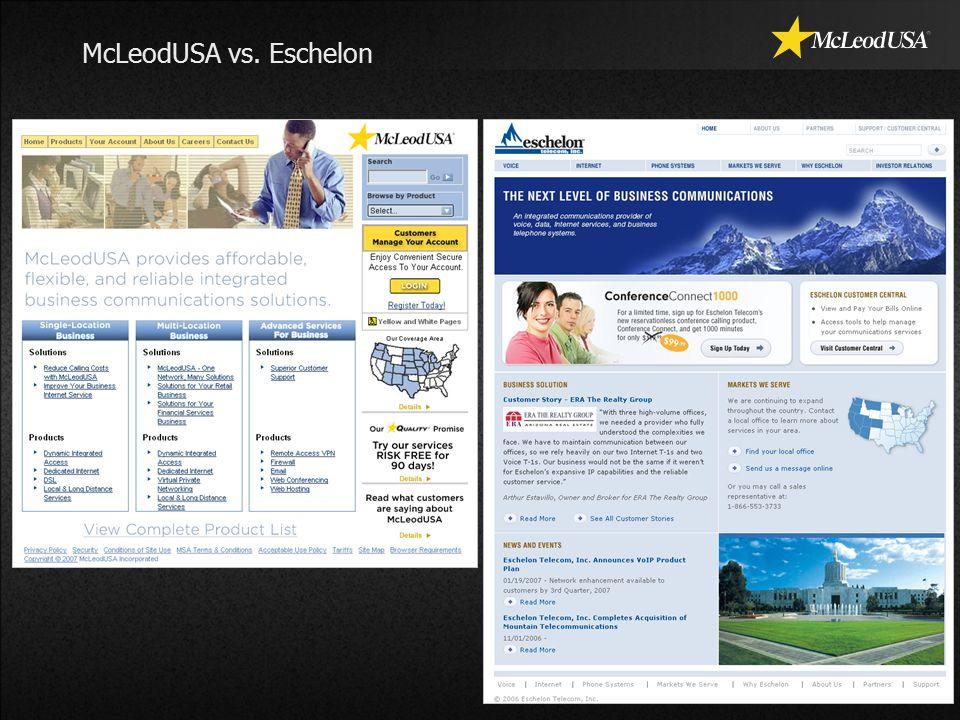 McLeodUSA vs. Eschelon