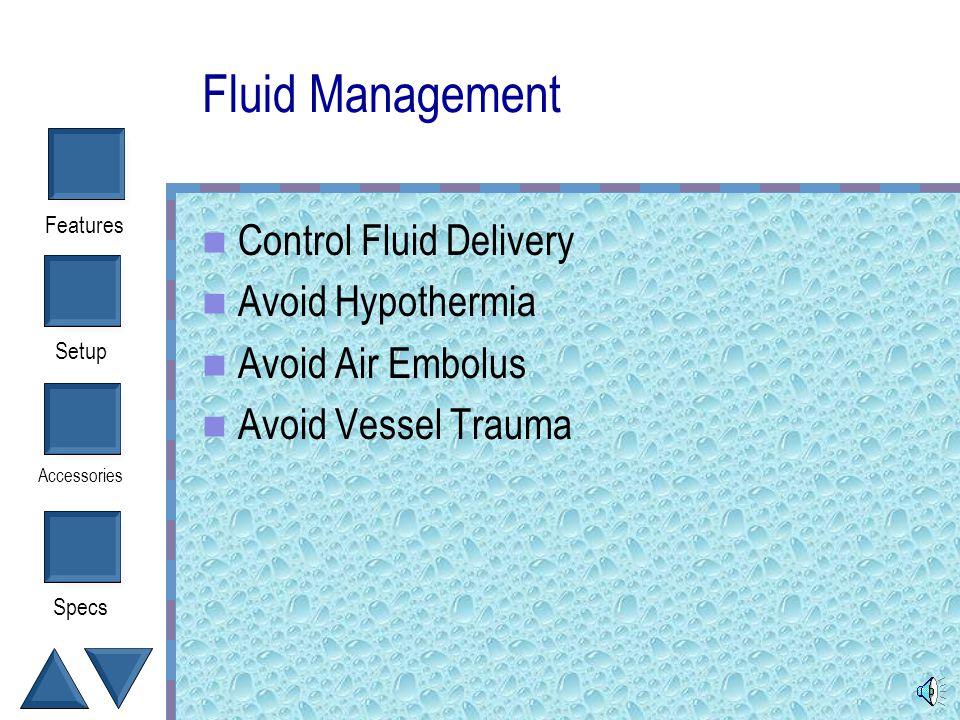 Setup Accessories Specs Features Belmont Instrument Corporation FMS 2000 Fluid Management System