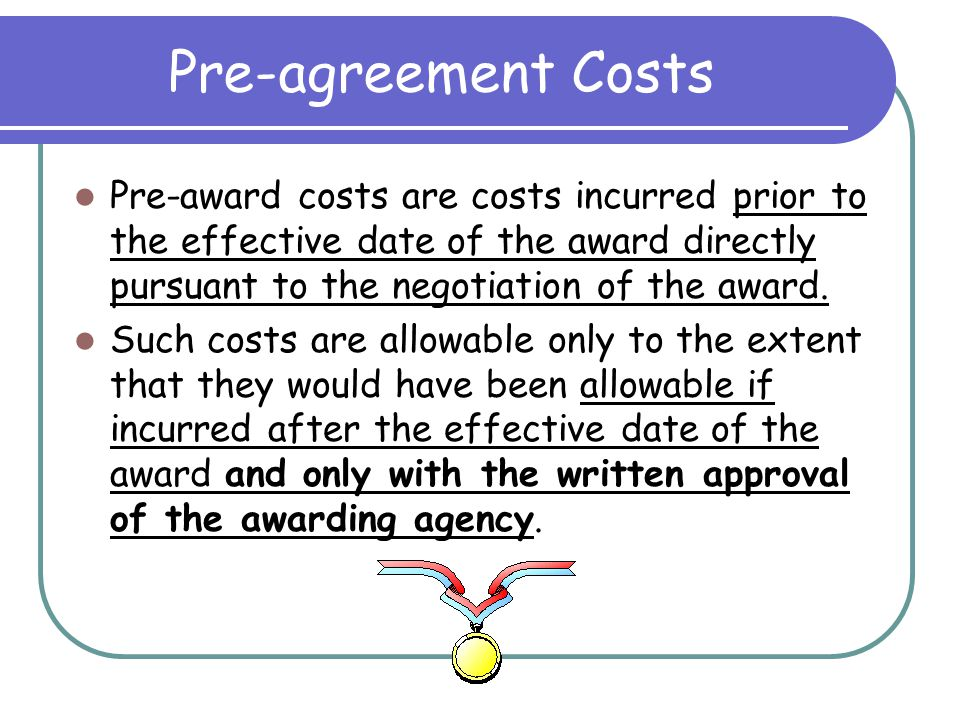 Participant Support Costs These costs include stipends or subsistence allowances, travel allowances, and registration fees paid to or on behalf of participants or trainees (but not employees) in connection with meetings, conferences, symposia, or training projects and are allowable as direct costs with the prior approval of the awarding agency.