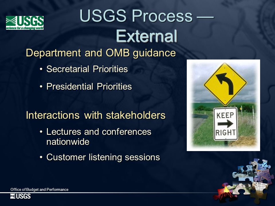 Office of Budget and Performance May - June Preparation of the Budget Request to the Department May - June Preparation of the Budget Request to the Department USGS Process