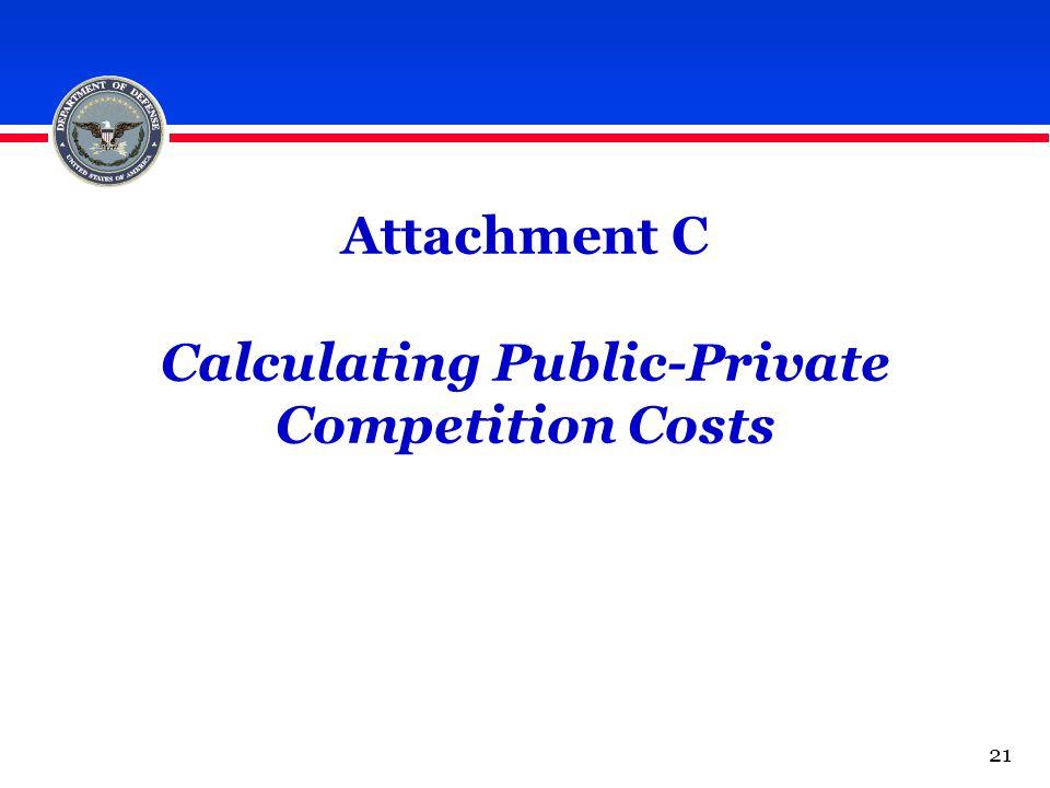 Attachment C Calculating Public-Private Competition Costs 21