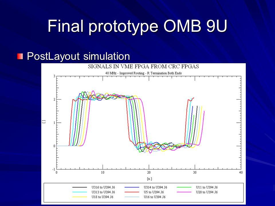 Final prototype OMB 9U PostLayout simulation