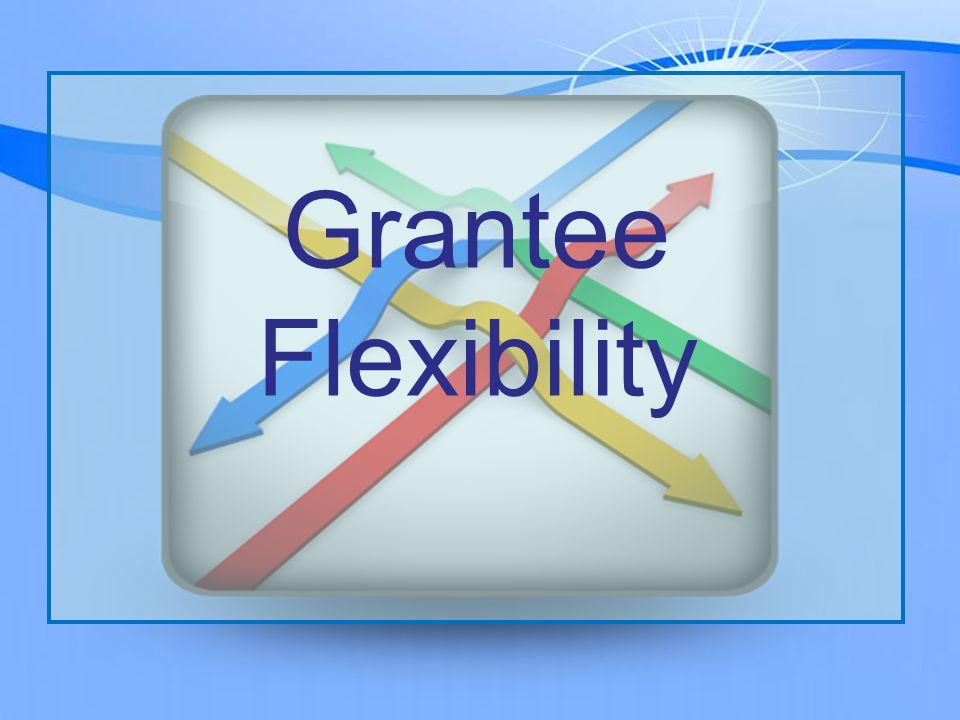 Grantee Flexibility