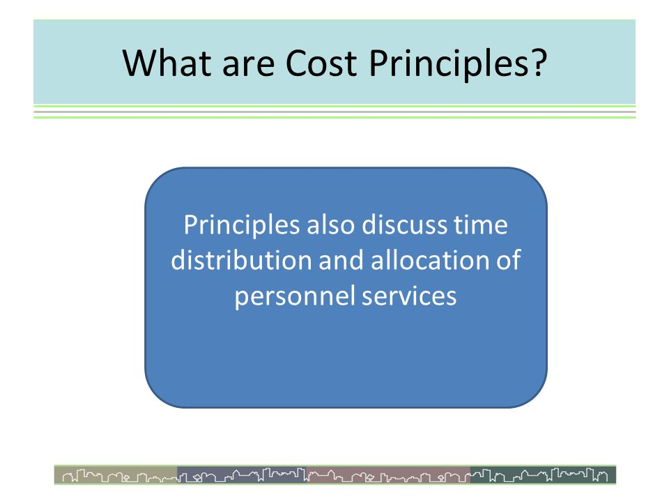 What are Cost Principles.