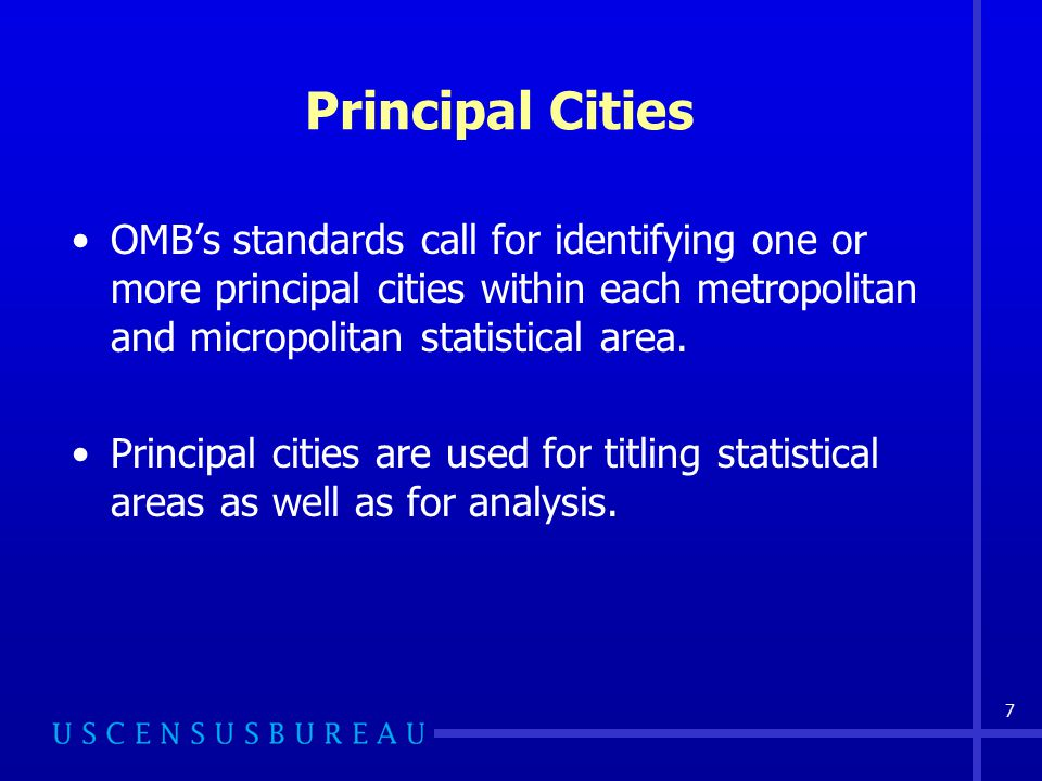 8 Core Based Statistical Areas (CBSAs) United States and Puerto Rico Counties Outside Core Based Statistical Areas Core Based Statistical Areas: Metropolitan Micropolitan Statistical Areas Metropolitan Divisions Combined Statistical Areas