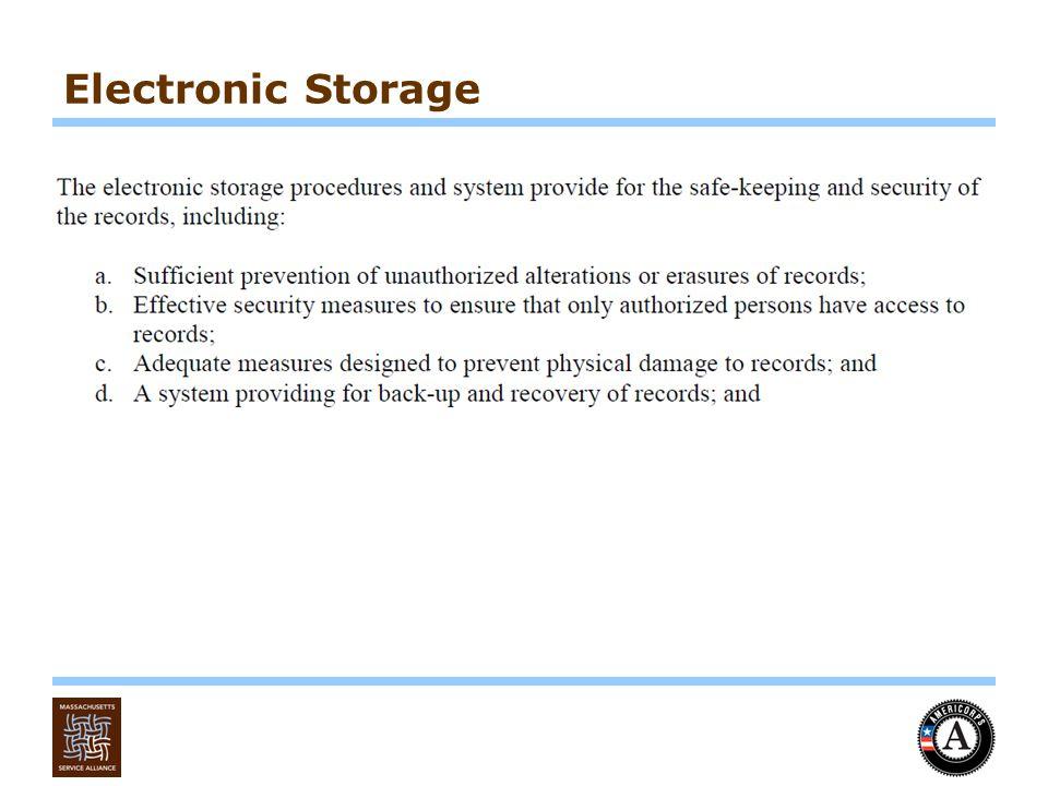 Electronic Storage
