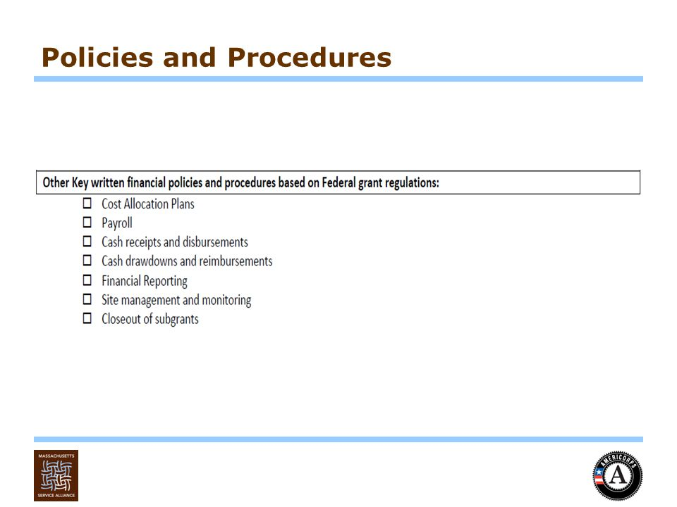Policies and Procedures and Form 990