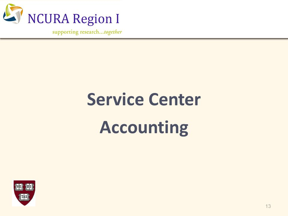 Service Center Accounting 13