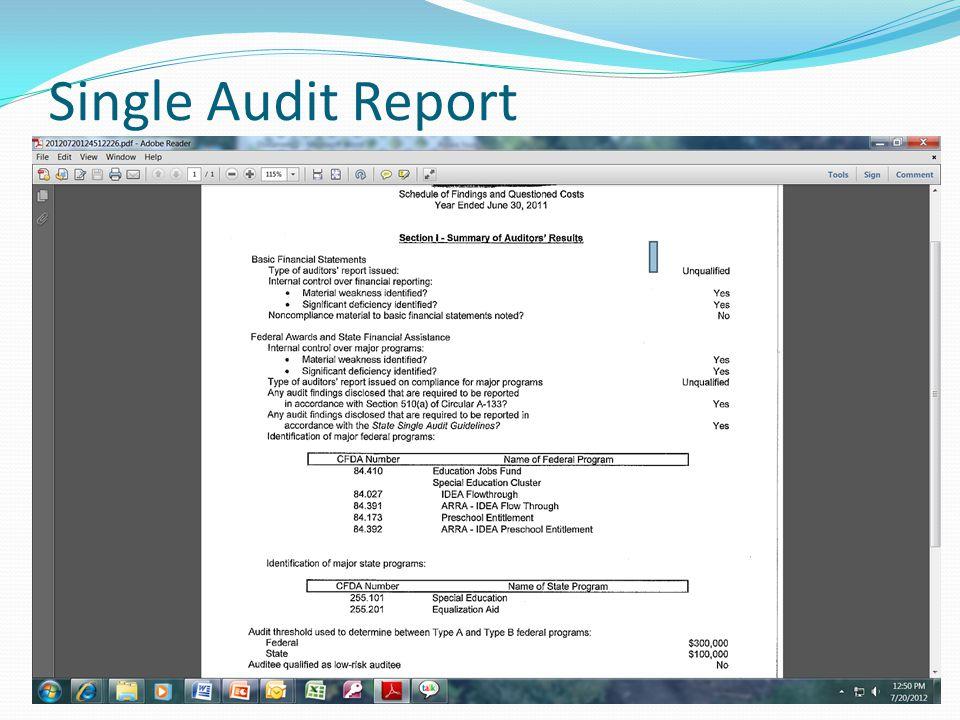 Single Audit Report