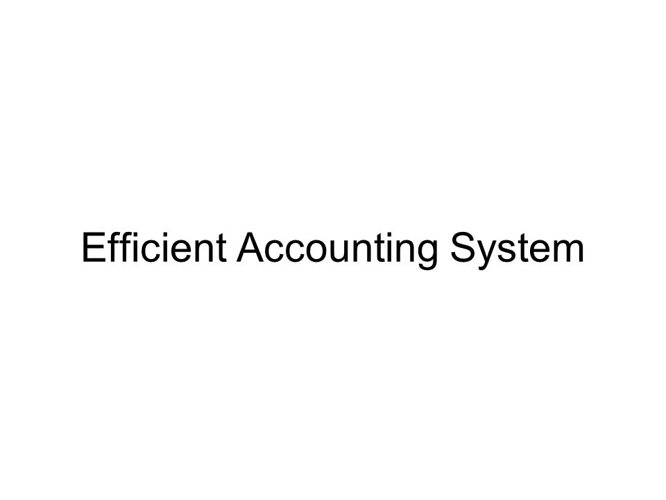 Efficient Accounting System