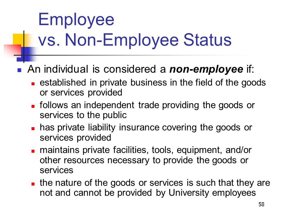 58 Employee vs.