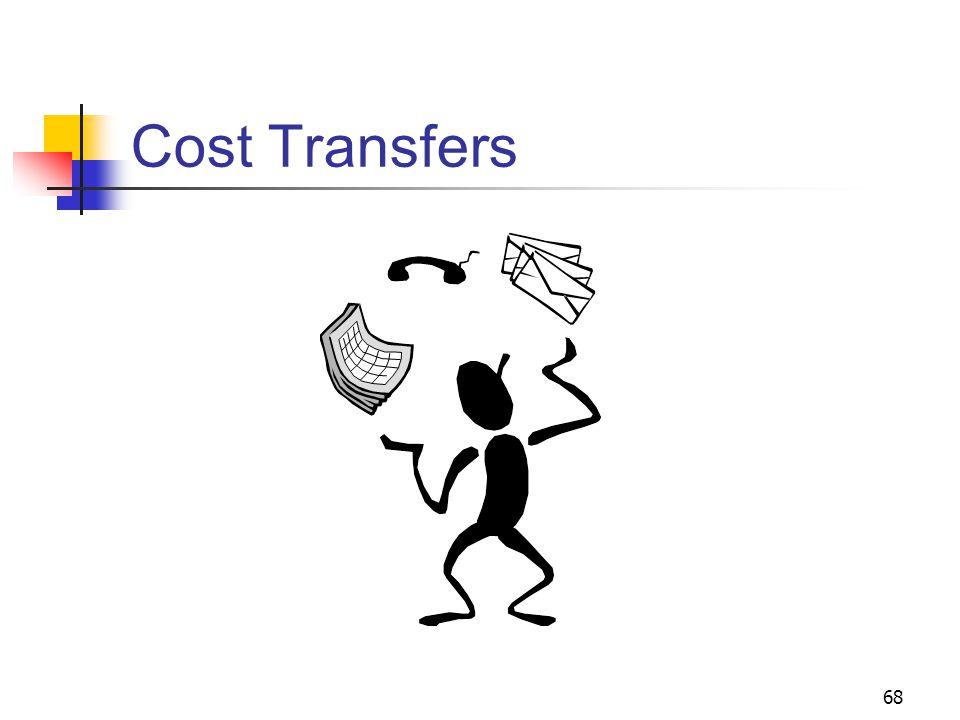 68 Cost Transfers
