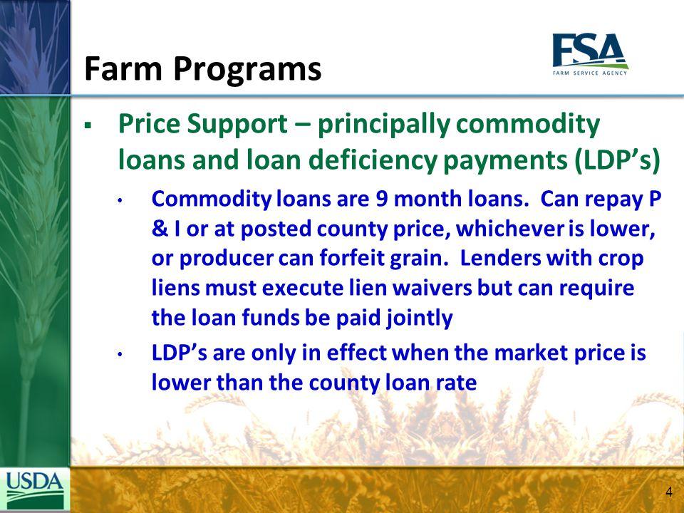 Farm Programs  What will the new Farm Bill bring.
