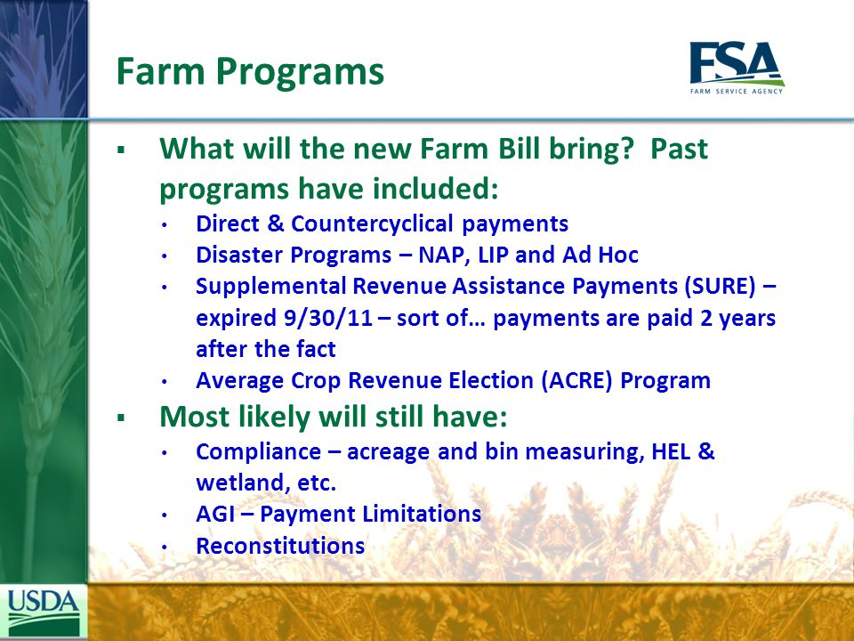 Farm Storage Loans  Farm Storage Facility Loans Available to all producers of eligible commodities Eligible structures now include hay, renewable biomass and cold storage $500,000 loan limit per structure Mortgage required if loan exceeds $100,000 15% down payment required Eligibility is based on need for additional storage 7, 10 and 12 year terms and low fixed interest rates (published monthly – rates vary by loan term) No test for credit requirement – most are eligible Consider a Rural Development REAP grant to help pay for new energy efficient grain dryers 26