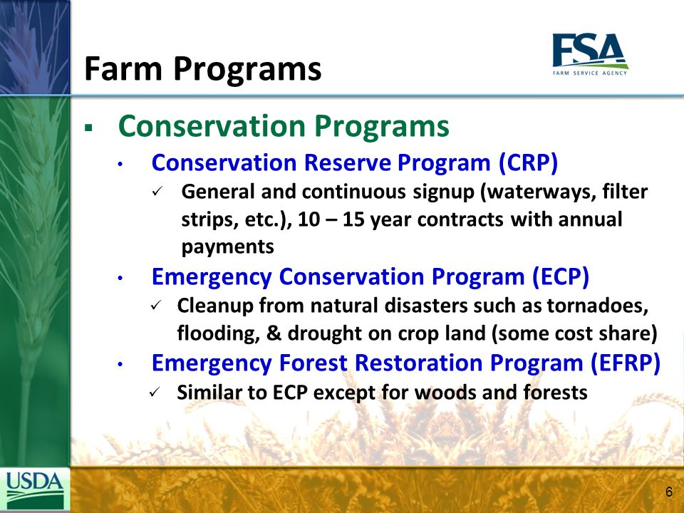 FY 2011 FSA Farm Support – Indiana  DCP and ACRE Payments ~ $220 Million  Conservation Reserve Program Payments ~ $44.8 Million  SURE Disaster Payments ~ $32.5 Million  Farm Storage Facility Loans ~ $14 Million  Other Disaster Programs ~ $2.36 Million 7