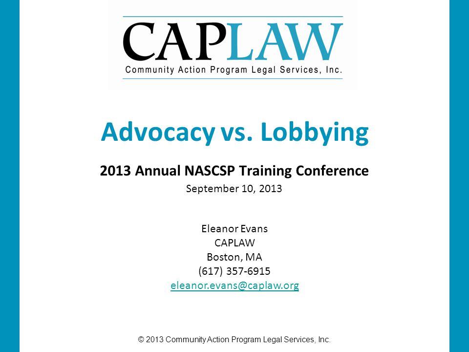 © 2013 Community Action Program Legal Services, Inc.