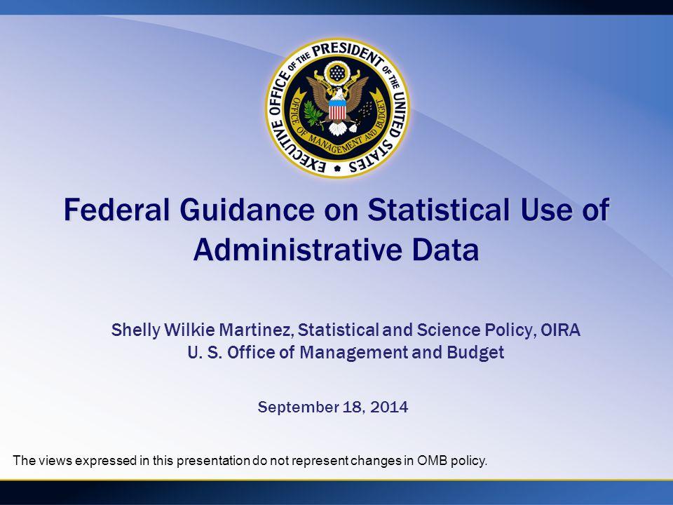 Presentation outline Part I: Why Administrative data.