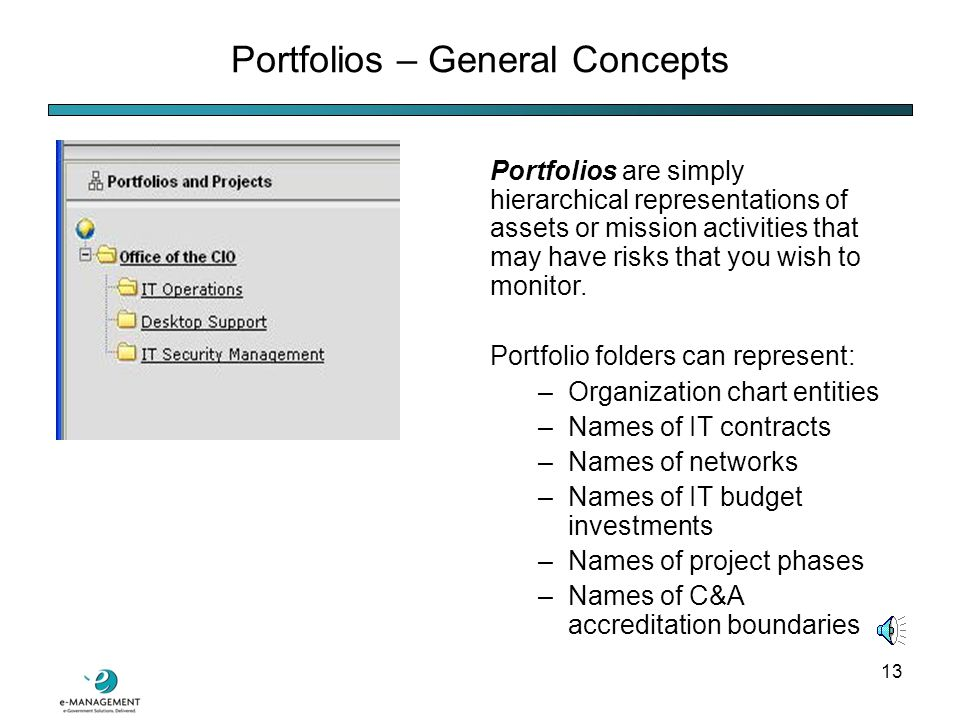 12 The Risk Module: Portfolios