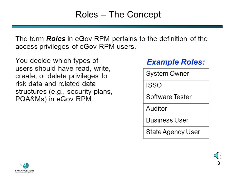 28 eGov RPM Security Test and Evaluation (ST&E) The SP 800-53A module of eGov RPM automates ST&E reporting:
