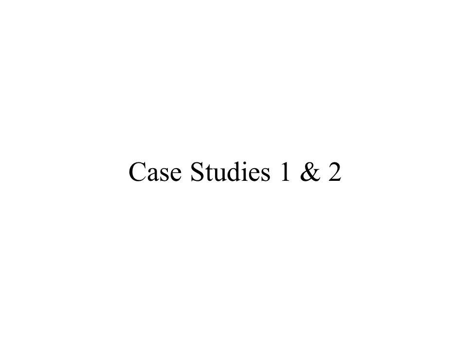 Case Studies 1 & 2