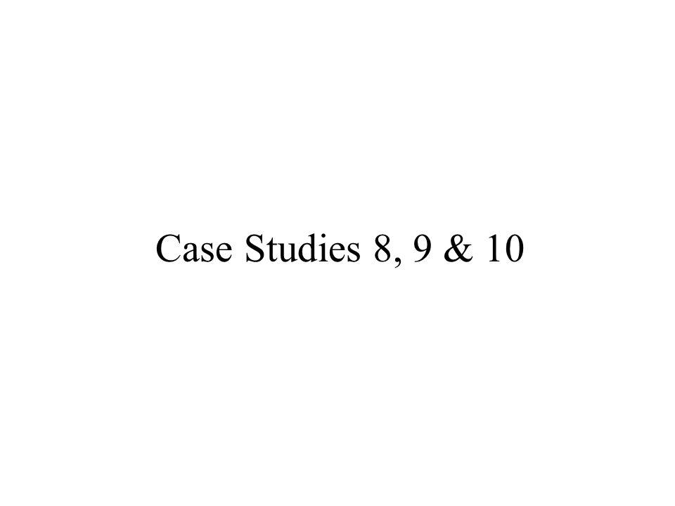 Case Studies 8, 9 & 10