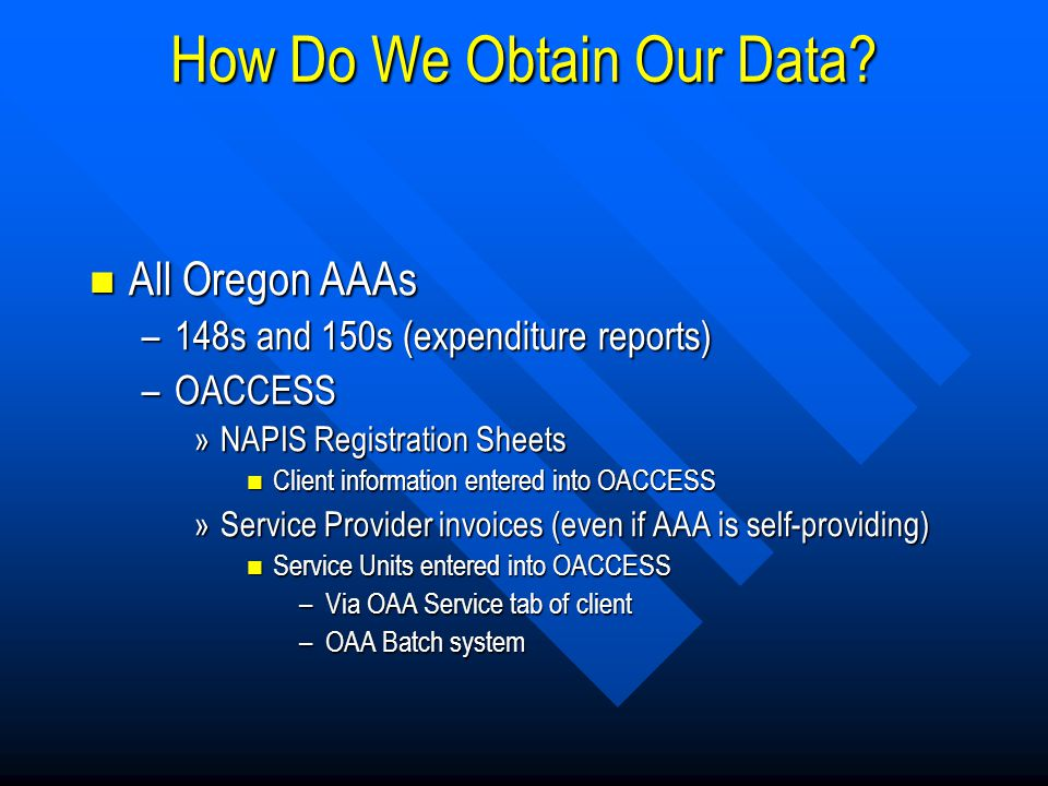 How Do We Obtain Our Data.