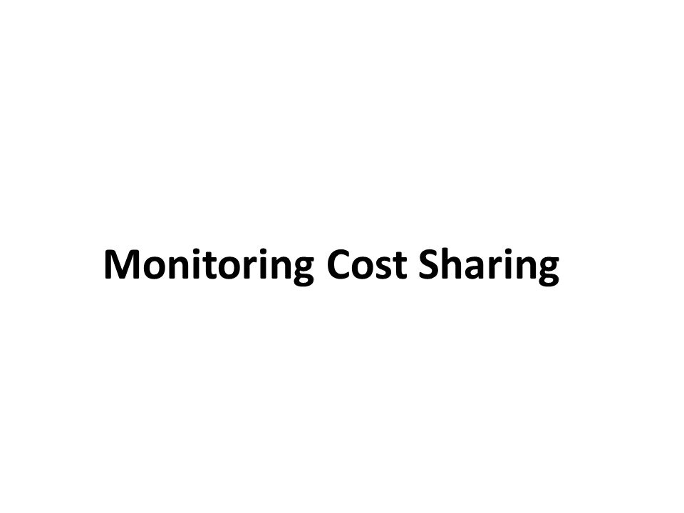 Monitoring Cost Sharing
