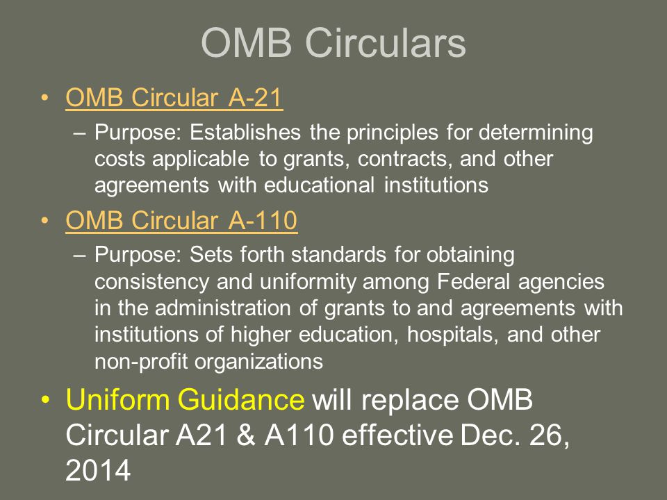 Factors Affecting Allowability of Costs (A21) The tests of allowability of costs under these principles are: (a) they must be reasonable; (b) they must be allocable to sponsored agreements under the principles and methods provided herein; (c) they must be given the consistent treatments through application of those generally accepted accounting principles appropriate to the circumstances; and (d) they must conform to any limitations or exclusions set forth in these principles or in the sponsored agreement as to types or amounts of cost items.