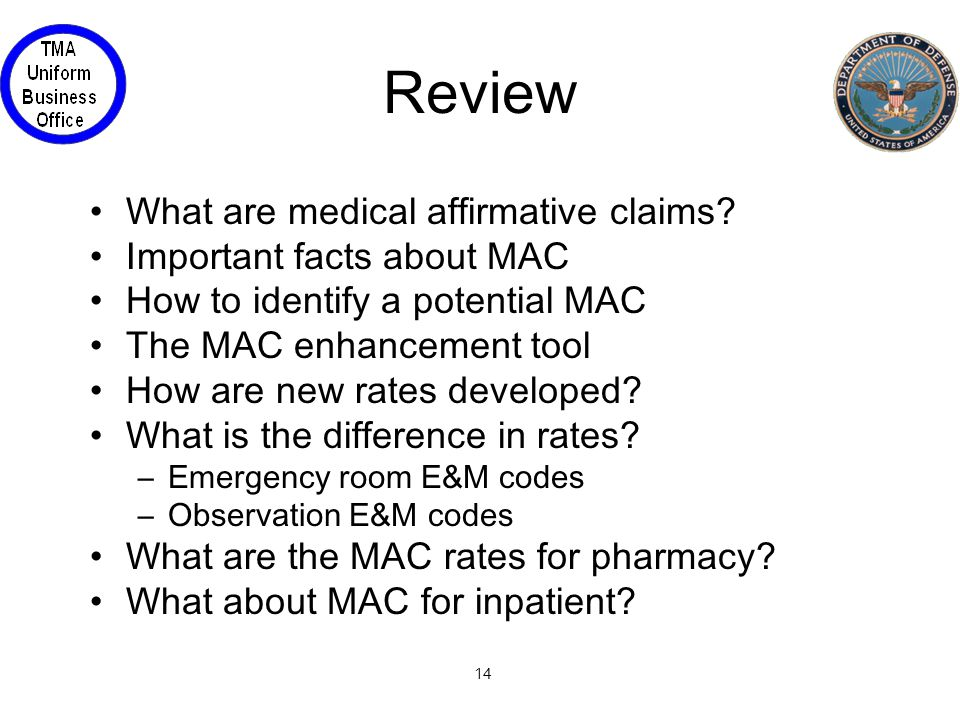 14 Review What are medical affirmative claims.