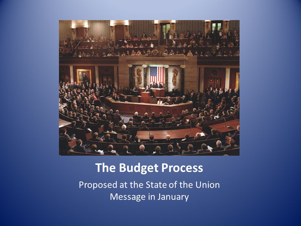 Proposed at the State of the Union Message in January The Budget Process