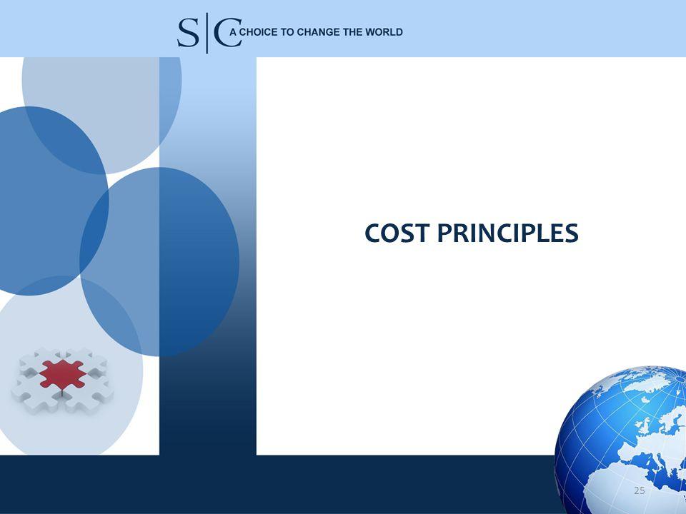 COST PRINCIPLES 25