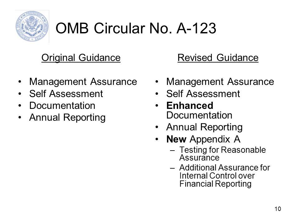 10 OMB Circular No.