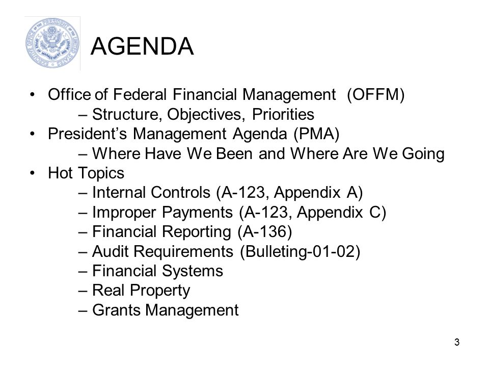 14 Financial Reporting (A-136) Performance section added (per Circular A-11) Federal Accounting Standards and Advisory Board Updates (Statement of Social Insurance, Earmarked Funds, Heritage Assets/Stewardship Lands, Inter-entity costing) Parent/child Reporting (Allocation transfers) PAR Highlights document New Management Assurance statement in MD&A
