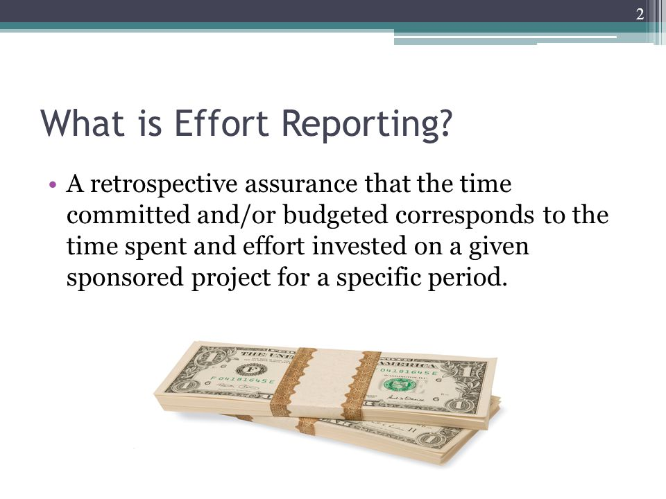 What is Effort Reporting.