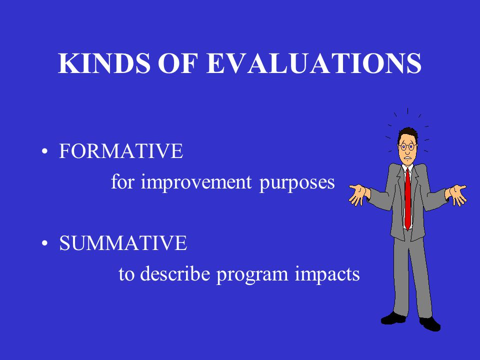 EXTERNAL EVALUATION ENCOMPASSES BOTH FORMATIVE & SUMMATIVE METHODOLOGIES